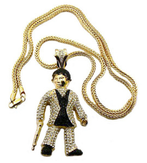 """Scarface pendant GOLD w FREE 36"" chain"