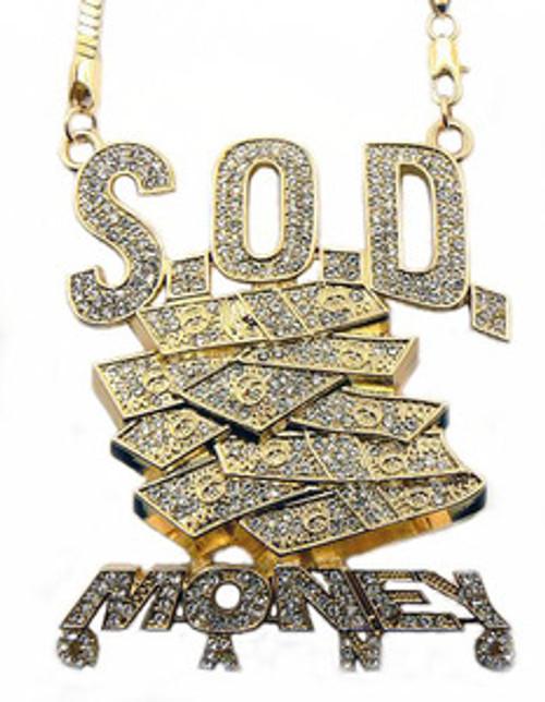 SOULJA BOY'S S.O.D MONEY GANG HIP HOP PENDANT & CHAIN
