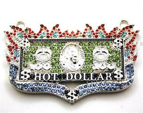 """Icy Blazed Red Blue & Green Hot Dollar Hip-Hip Pendant"