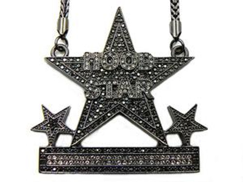 Hood Star Black Hip Hop Pendant CUSTOM