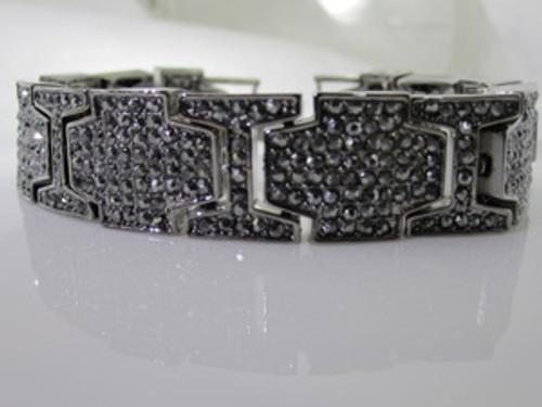 Fully Iced Out Hematite stone black bracelet