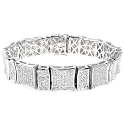 """925 Sterling Silver Micro Pave Bracelet"