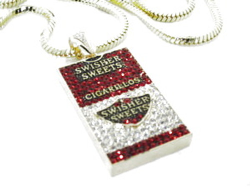 """""""Swisher Sweet red small box with FREE 36"""" GOLD Franco chain"""