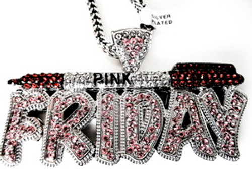 PINK FRIDAY PIECE-RED PEN/PENDANT W/FREE CHAIN