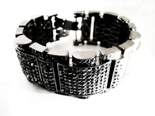 """""""King Hematite Bracelet in Black"""