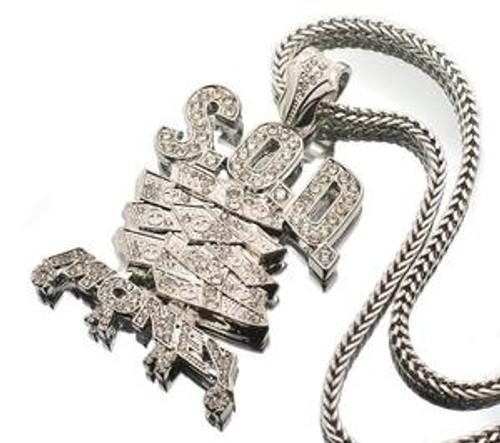 """SOD CUSTOM Soulja Boy New Money Gang pendant SILVER"