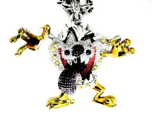 """Tazmanian Devil Steel Piece/ Pendant w/FREE 36"" Chain"