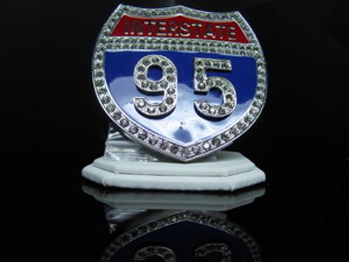 """1-""""Interstate i95 Iced Out Hip Hop Belt Buckle"""