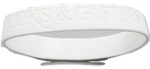 Crooks and Castles White Rubber Wristband