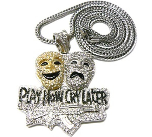 """""""LIL BOOSIE'S BLACK PLAY NOW CRY LATER PIECE & 36"""" CHAIN"""