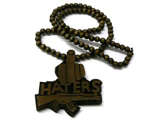 """""""Brown Good Wood Haters pendant w/FREE Beaded chain"""