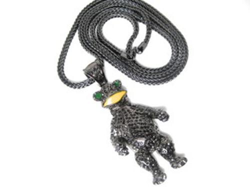"""Waka Flocka 3"""" BLACK BEAR Chain w/FREE 36"""" Chain"""