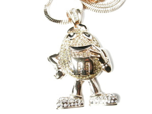 """M-ICED Out GOLD Hip Hop Pendant w/FREE 36"""" Chain"""