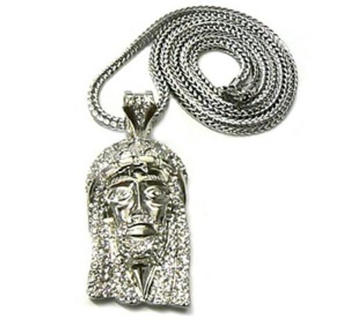 """Jesus piece New Silver Kayne piece w/ FREE 36"""" Chain"""