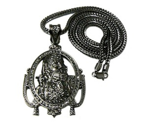 """1-Wiz Khalifa Zig Zag Man All Iced OUT Black Piece w/FREE 36"" Chain"