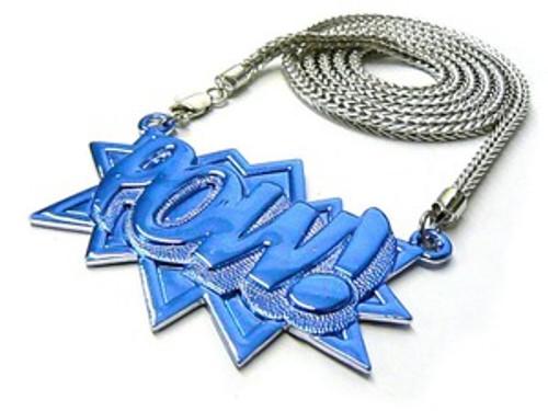 "Ambush POW All Iced OUT BLUE/ Japan  Piece w/FREE 36"" Chain"