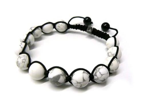 """LA Mens Collection Shambhala White Fiji  Bracelet MB_44"