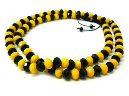 """BLACK & YELLOW Shambhala 12MM x 36"" Chain"