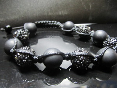 """12MM WIZ KHALIFA ""ROLL-UP SHAMBALLA BRACELET w/Gift BOX"