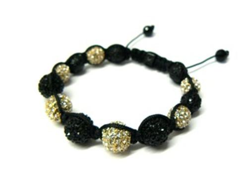 Signature LA Collection Black & Gold Shambhala Bracelet