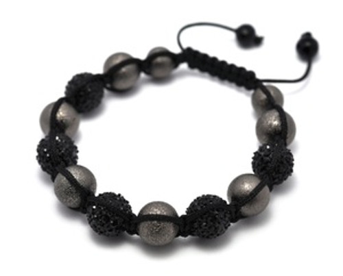 Shambhala bracelet v-series001 Black&Silver