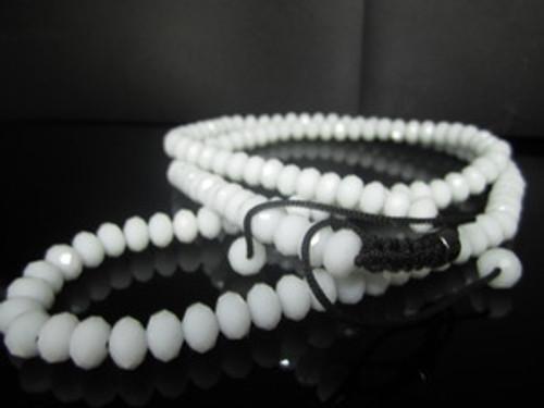 White 12MM Onyx Shambala Necklace-Rare