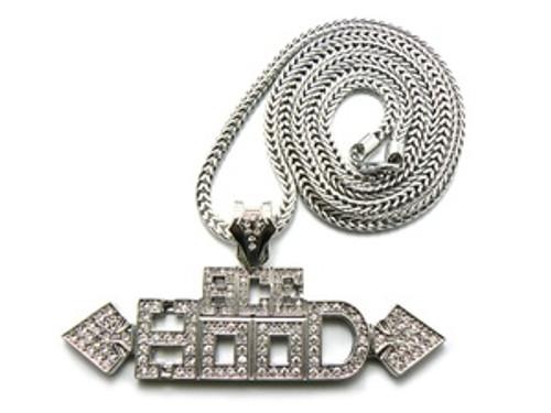 "1""-ACE Hood-Silver Pendant w/ FREE 36"" Chain"