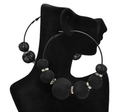 """""""Basketball Wives Earrings-All Black Balls"""