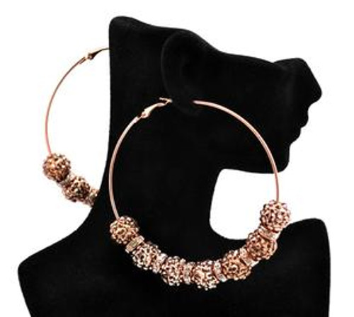 """Basketball Wives Earrings-Gold Shambhala Hoops"