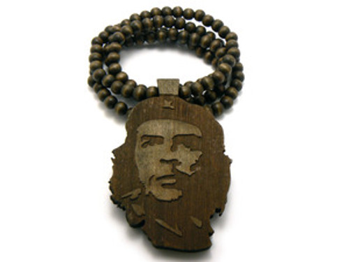 """""""Che Guevara Freedom Fighter Maple Good Wooden pendant w/ FREE beaded chain"""