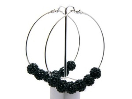 """Basketball Wives Earrings-All Black"