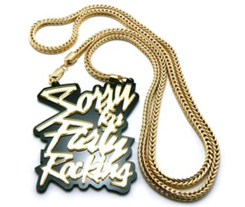 """""""Sorry for the Party Rocking-Gold Pendant & 36"""" Chain Set"""