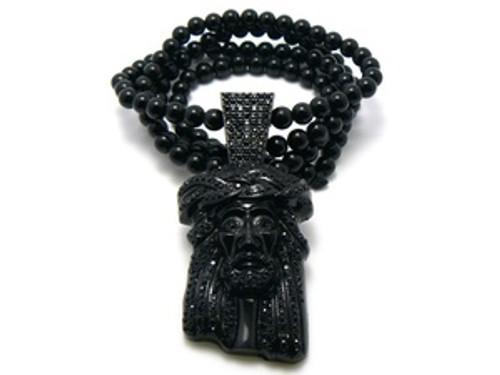 """""""Kayne West, Jay-Z Black Jesus Piece-NEW w/FREE 36"""" Chain"""