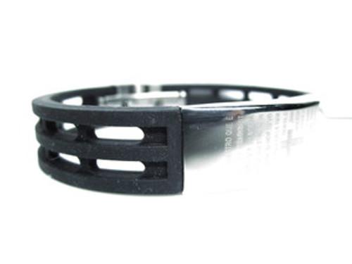 """""""Lords Prayer Bracelet (Spanish)  Black Rubber &Stainless steel"""