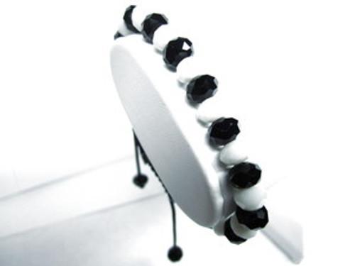 """BLACK/WHITE  DIAMOND 10mm Rick Ross SHAMBHALA BRACELET MACRAME  400"