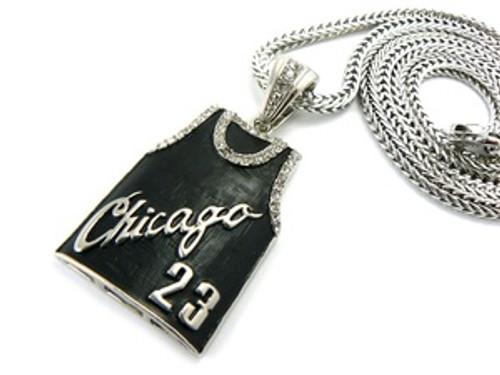 """Chicago Bulls Jordan 23 Pendant w/FREE 36"" Chain"