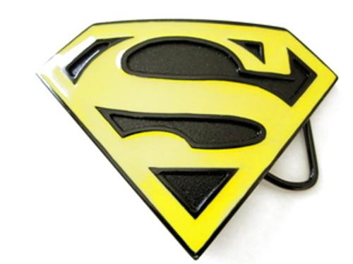 """Superman belt buckle-Black& Yellow"