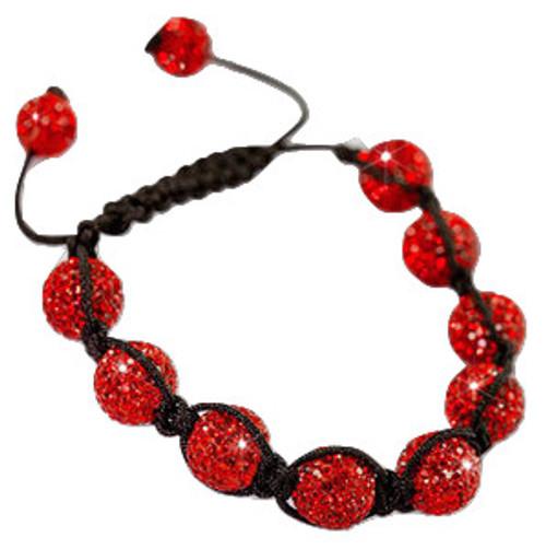 """""""RED 9Ball Shambhala Baller Bracelet"""