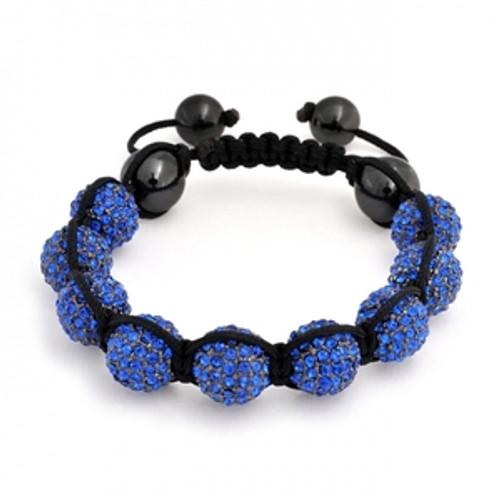"""Premium BLUE 9Ball Shambhala Baller Bracelet w/FREE BOX"