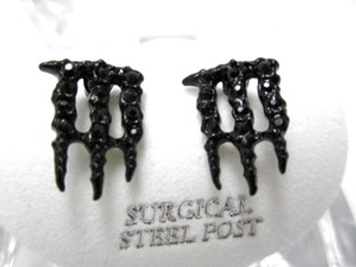Iced Out Energy Drink Earrings | Black SOLD OUT