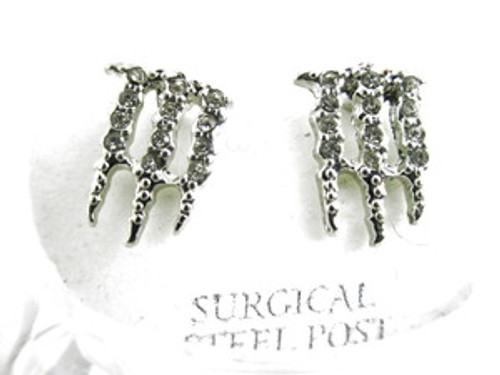 Iced Out Energy Drink Earrings | Silver