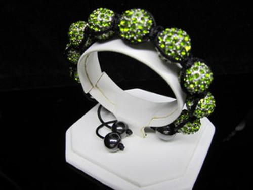 ALIEN OG /GEM Green Shambala  Bracelet w/BOX
