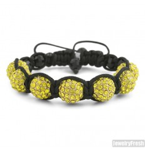 """""""Canary Gold Discoball Bracelet  12MM Beads $34.95"""