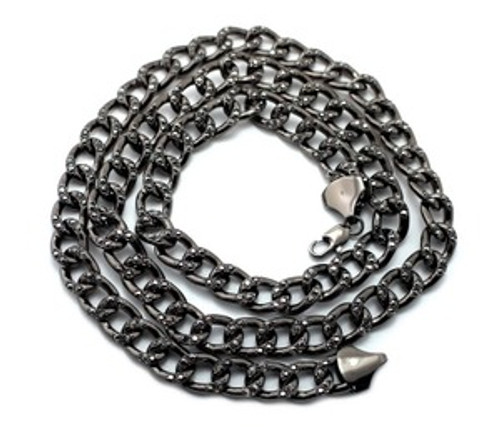 """""""Jay Z BLACK ICED Out LInk Chain  10MMx36"""