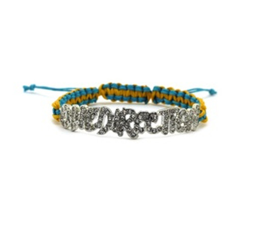 """""""One Direction Blue Yellow Bracelet, band"""