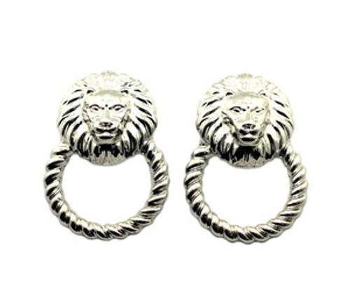 """""""Rihanna Silver Lion Hoop earrings"""