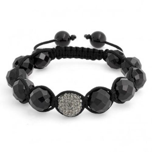 """""""NEW-Grey/Onyx Shamballa Inspired bracelet"""