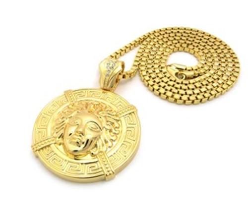 """""""1-Versace Empire Gold Pendant w/FREE 36"""" Chain"""