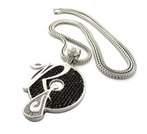 """""""ICED OUT JAY-Z, KANYE """" ROCAFELLA RECORDS """"PENDANT & 36"""" 4mm FRANCO CHAIN.."""