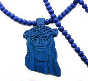 Good Wood Wooden Jesus Piece Blue